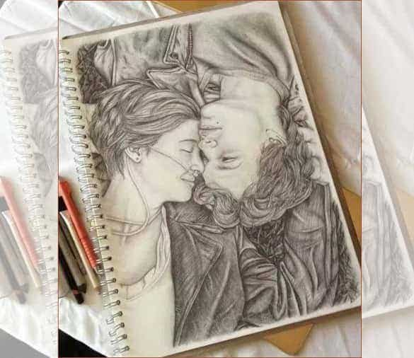 heart touching love drawing1 min
