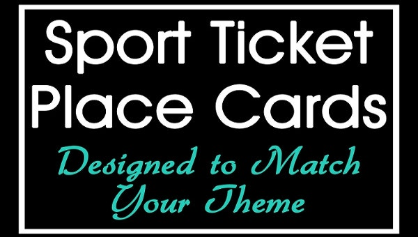 sports ticket template