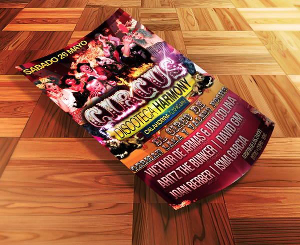 circus harmony flyer template