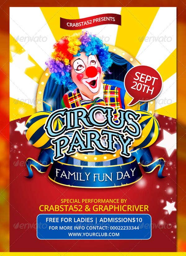 Fun Circus Flyer Template  Fun Poster Templates