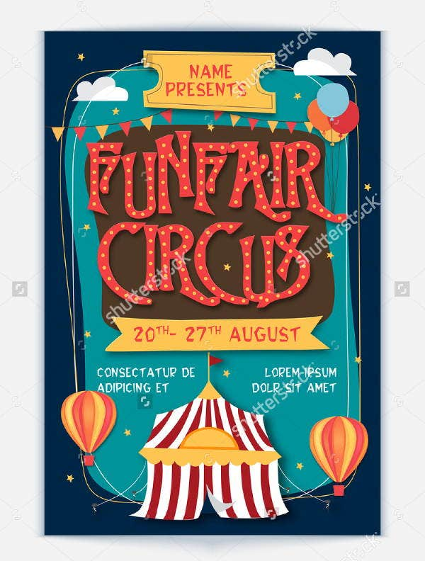 14 circus flyer templates free premium templates for Fun brochure templates