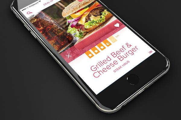 iphone 6 app design mockup
