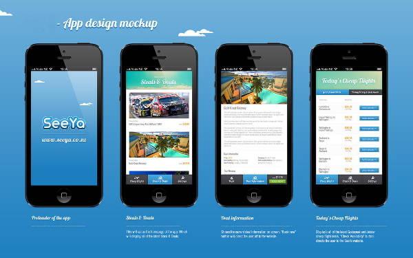 free app design mockup