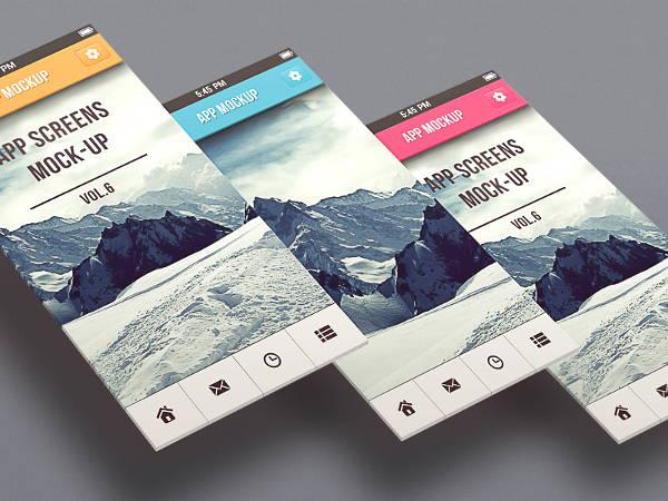 app screen design mockup