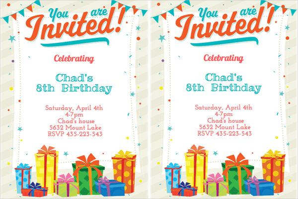birthday function invitation