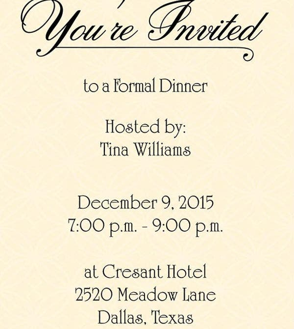 Party Invitation Templates – Birthday Dinner Party Invitations