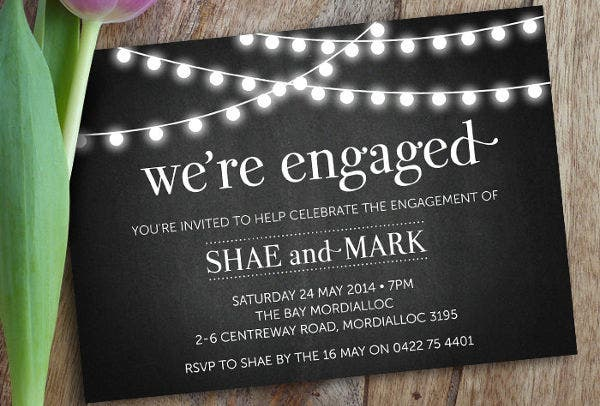 diy engagement party invitation1