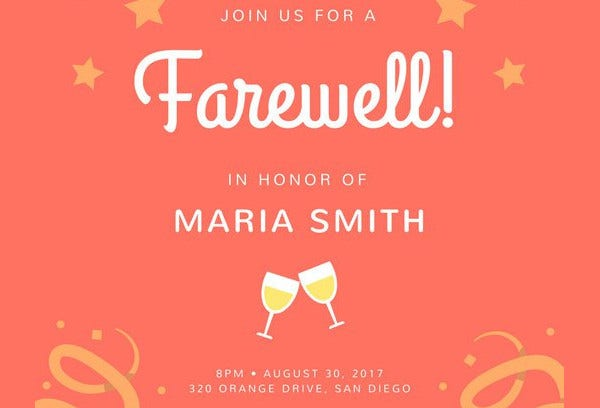 Farewell-party Invitation Card