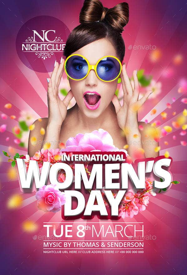 womens-day-party-flyer-template