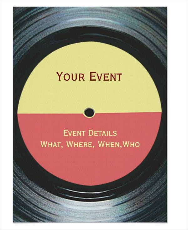 music-event-invitation-template