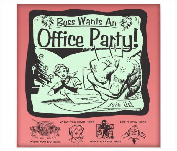 Office Party Email Invitation