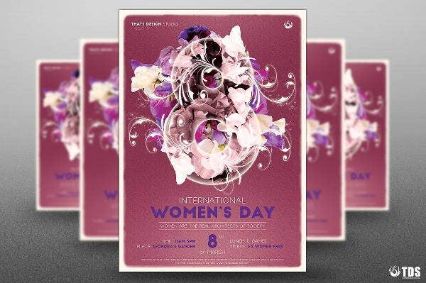 flowers-womens-day-flyer