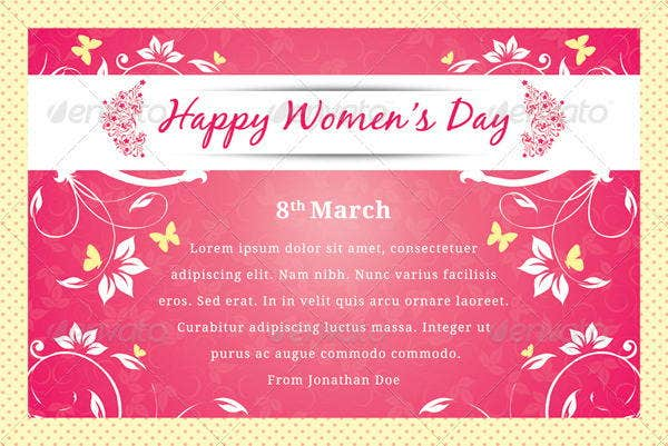 10 womens day greeting card templates free premium templates happy womens day greeting card m4hsunfo