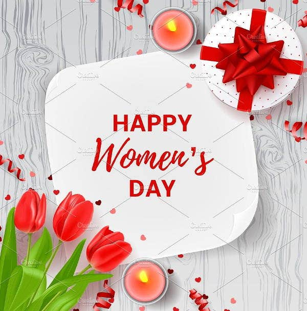 WomenS Day Greeting Card Templates  Free  Premium Templates