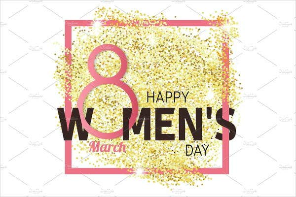 glitter-womens-day-greeting-card