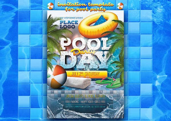 summer pool party invitation1