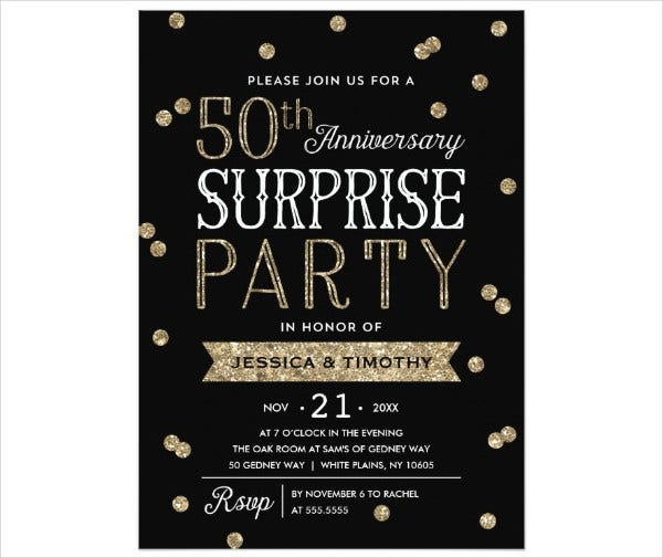 surprise anniversary party invitation1