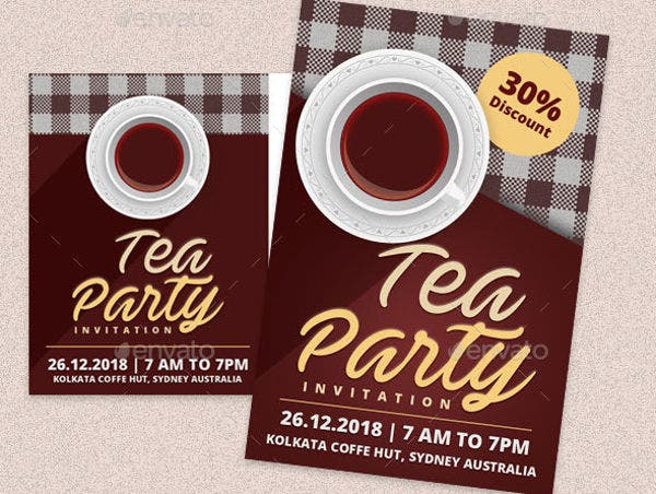 vintage tea party invitation2