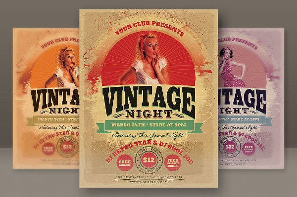 free vintage party invitation
