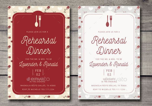 wedding dinner party invitation1