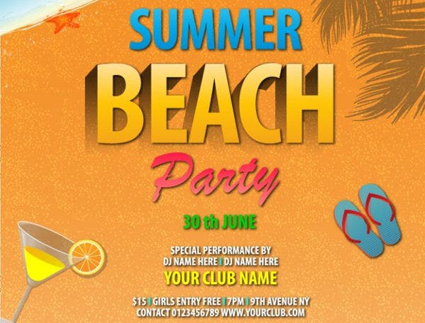 summer beach party invitation3