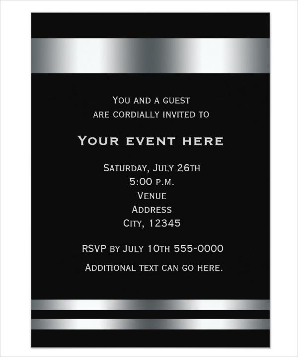 business dinner invitation example