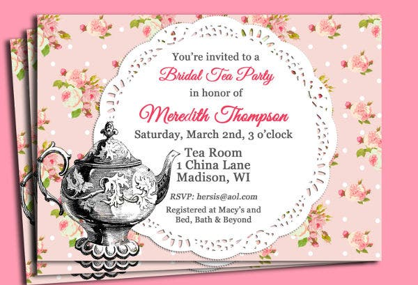 Vintage Tea Party Invitation