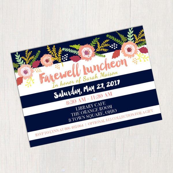 farewell lunch invitation