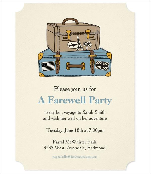 farewell day invitation
