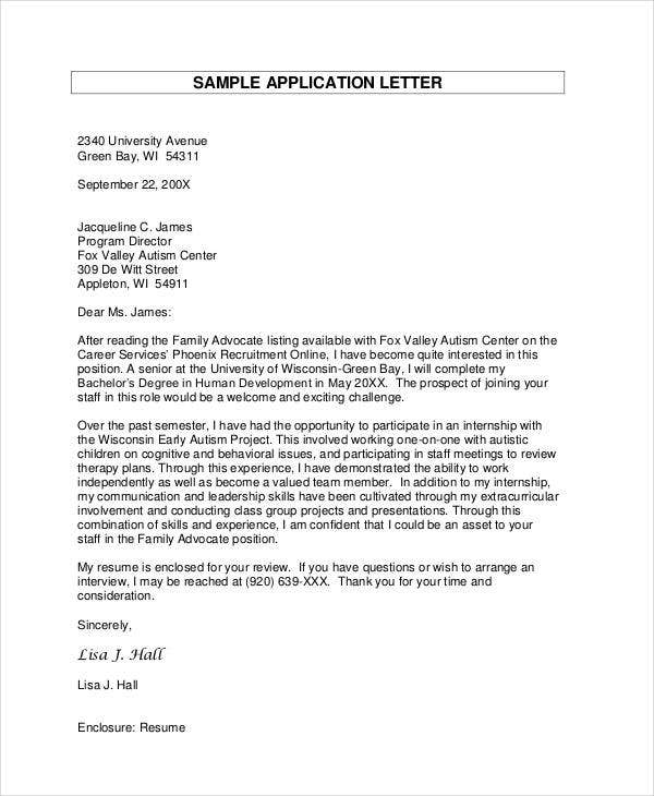 How to write an application letter 8 parts