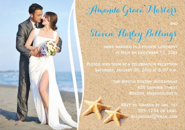 wedding reception invitation format