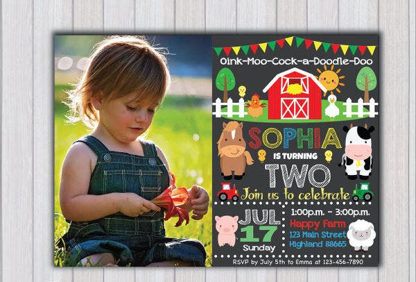 birthday party invitation format