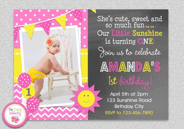 baby birthday invitation format