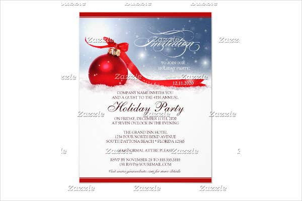 Corporate Party Invitation Template  Corporate Party Invitation Template