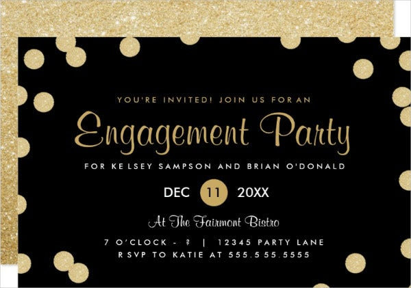 engagement party invitation format