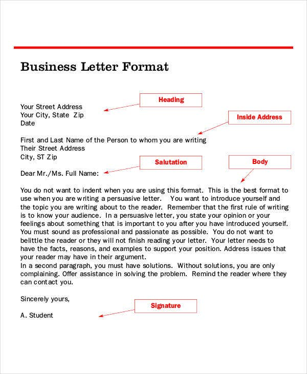 Letter format 46 free word pdf documents download free standard business letter format spiritdancerdesigns Image collections