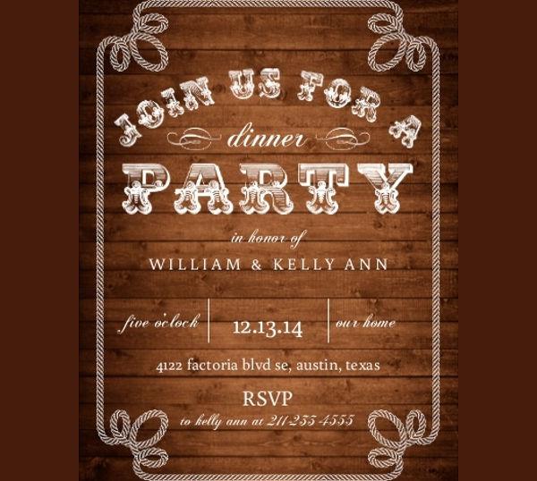 formal dinner invitation format
