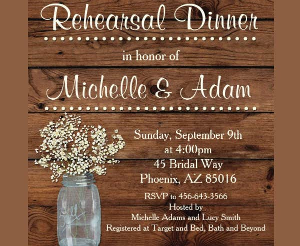 rehearsal dinner invitation format