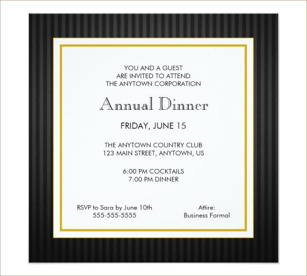 business dinner invitation format