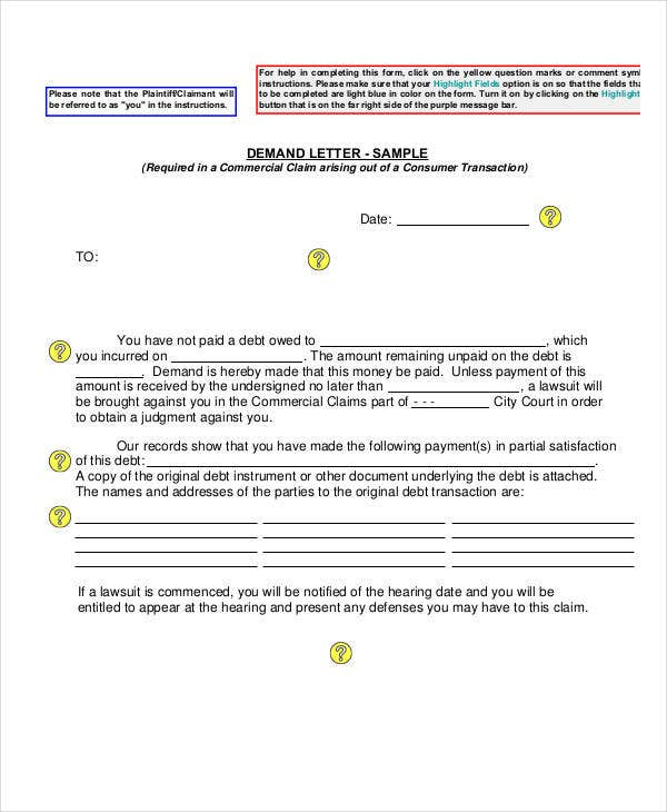 letter of demand template for payment