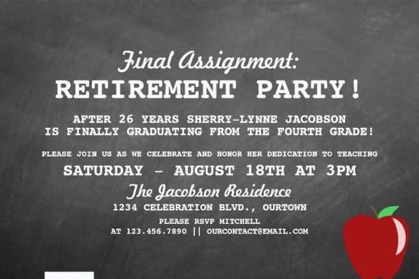 -Teacher Retirement Invitation