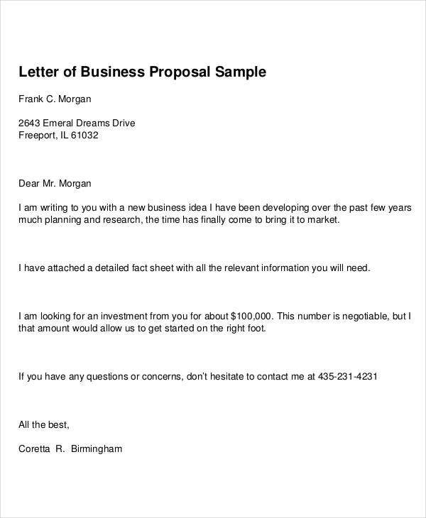 new business proposal letter