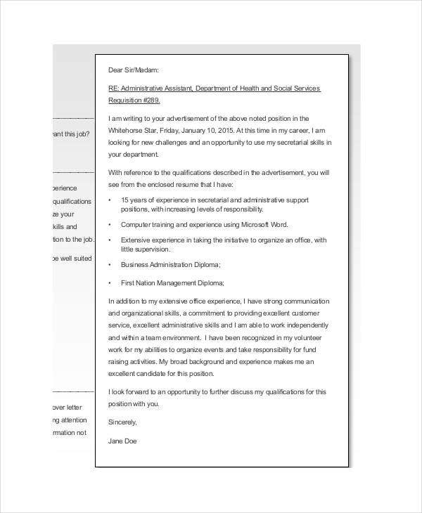 free cover letters for resume