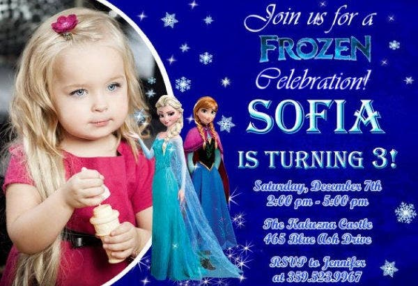 Frozen Photo Party Invitation