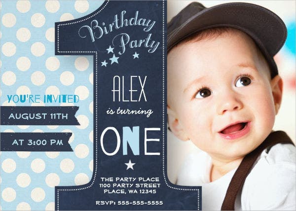 Photo Birthday Party Invitation