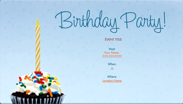 email birthday invitation