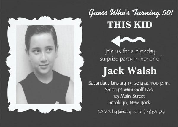 Surprise Photo Party Invitation