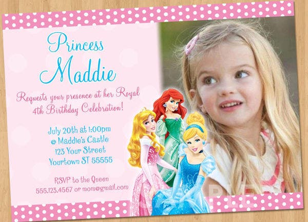 Photo Princess Party Invitation