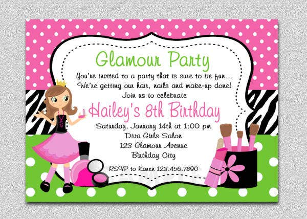 Spa Themed Party Invitation
