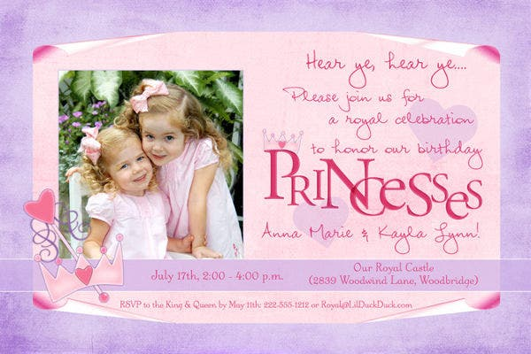 Royal Princess Party Invitation
